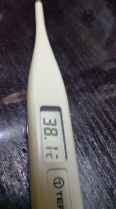 ヤバイさっきまで38.6<br />  ℃
