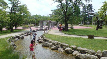 五泉市粟島公園の風景