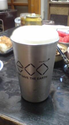 エコカップで乾杯