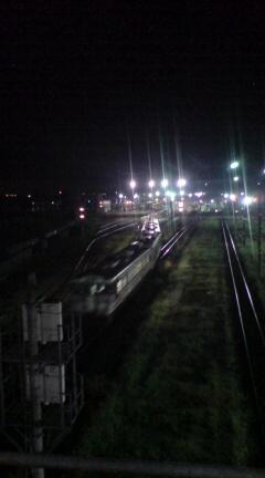 夜の新津駅