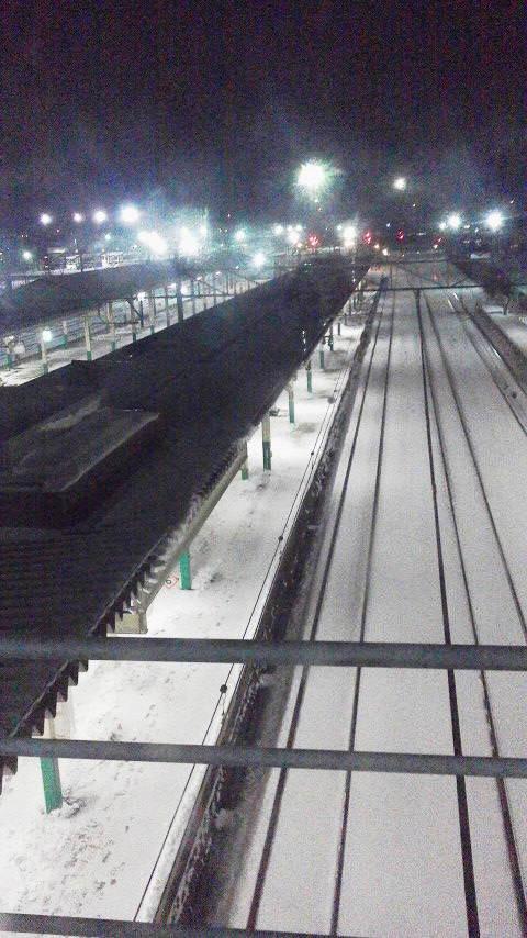 あぁ哀愁の新津駅前。