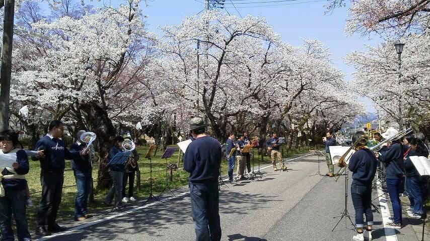 村松公園にて